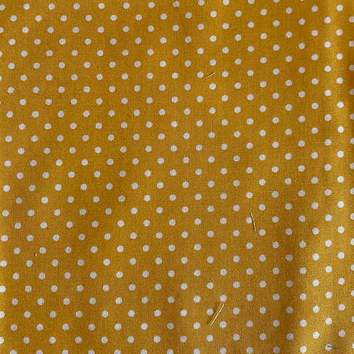 Adult Face Mask - Mustard Polka Dot
