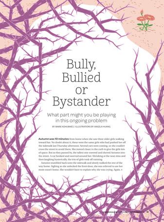 Brio Magazine: Bully, Bullied or Bystander