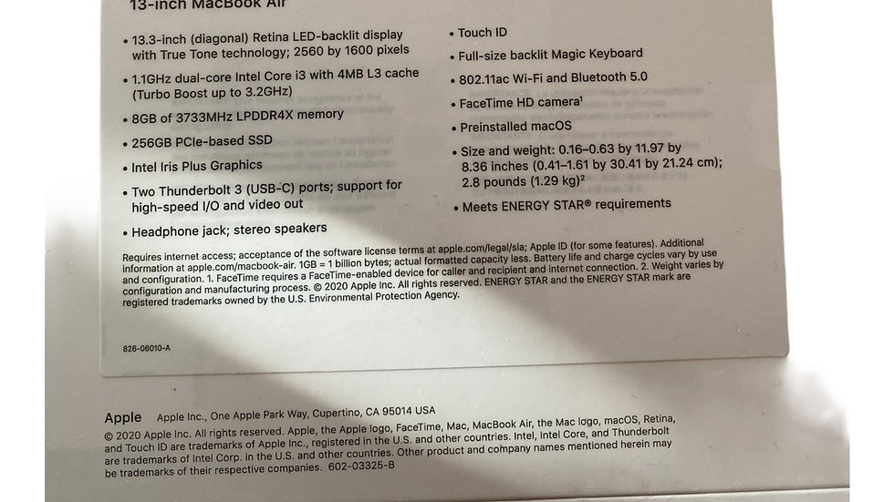Apple MacBook Air 2020 New Sealed