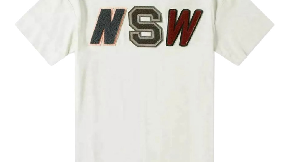 Nike Mens Sportswear NSW Embroidered T-Shirt Gray or Light Bone Tee 927396