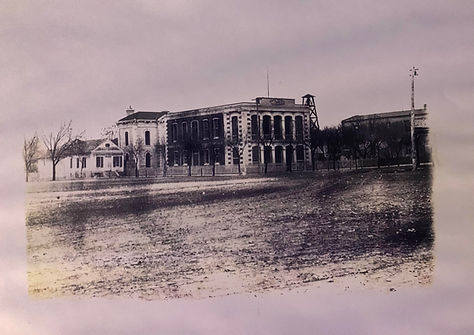 Print of Original building in 1880s