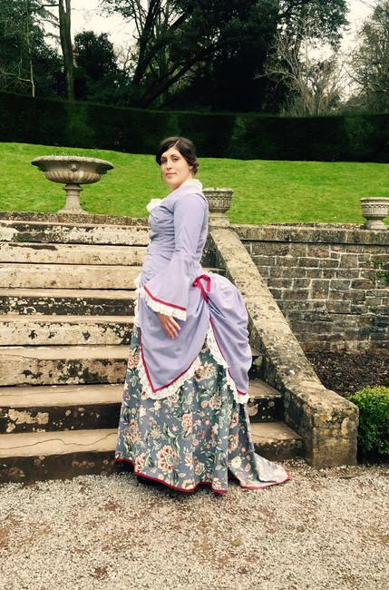 1878 Polonaise Bustle Gown