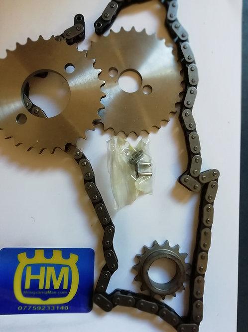 Husqvarna 510/610 timing chain and sprocket set.