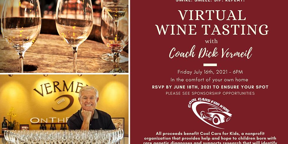 Virtual Wine Tasting with Coach Dick Vermeil