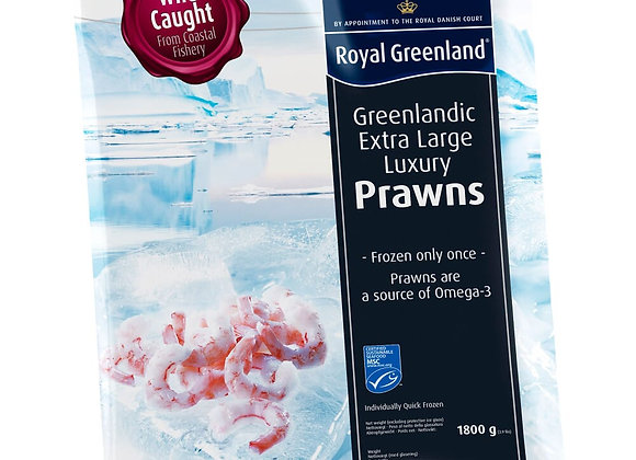 Cooked and Peeled Royal Greenland Prawns