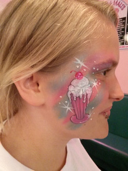 ice cream face paint