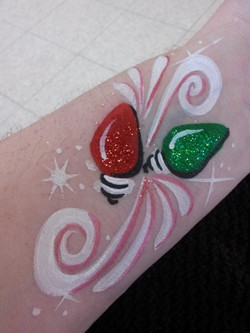 Christmas lights face paint