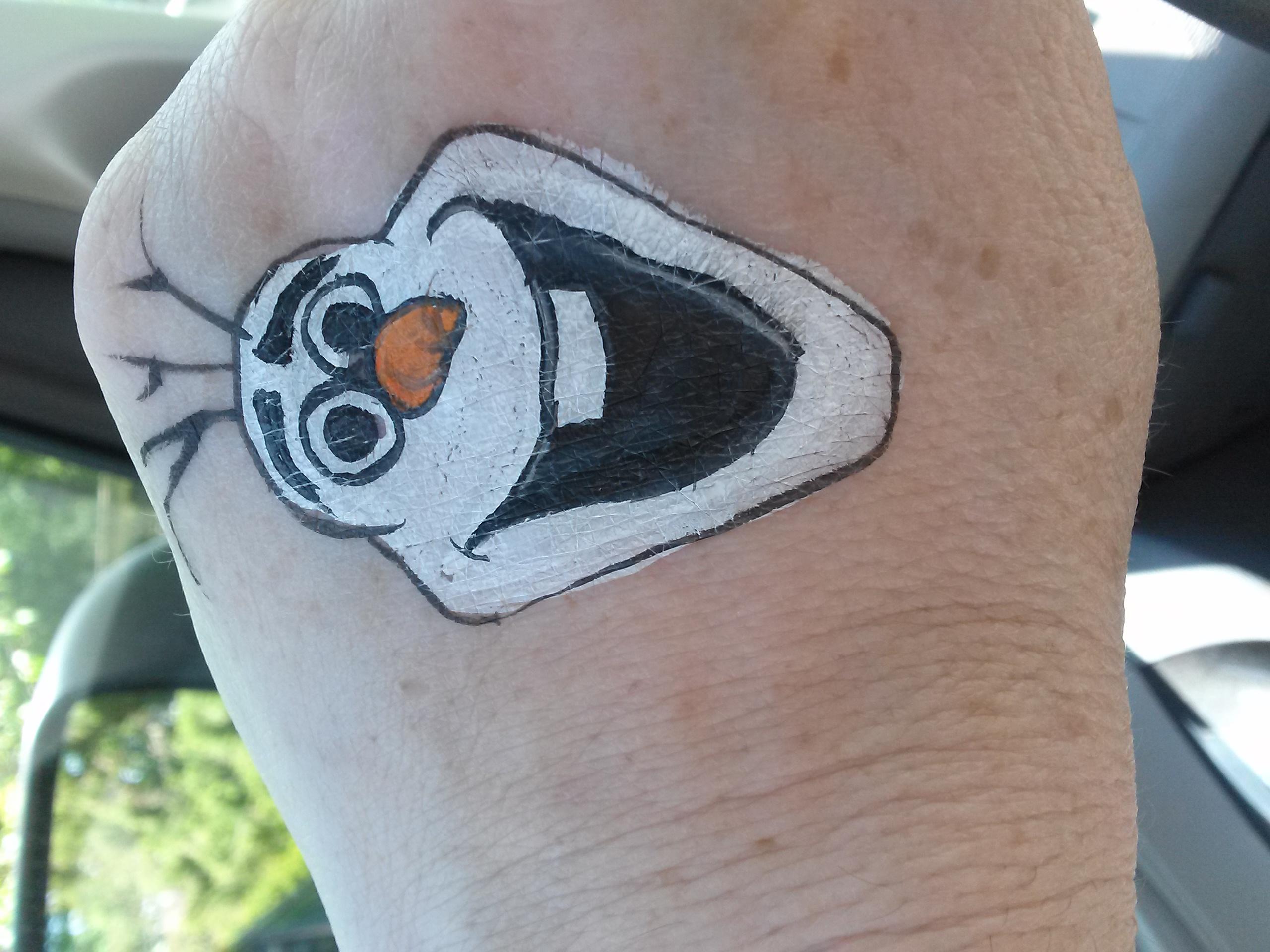 Olaf face paint