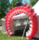 balloon link arch red and white
