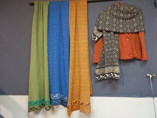 wool shawl/scarfs