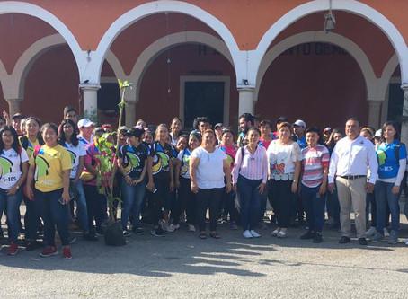 Reforestación en el Municipio de Mococha, licenciatura en Trabajo Social #IES