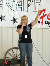 Singing at Agape Fest. Loved being a part of this great event.