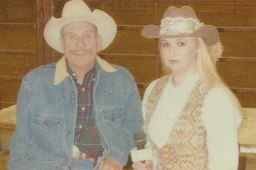 Stephanie with Cowboys for Christ founder Ted Pressley.
