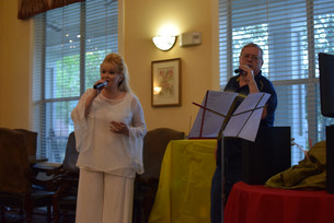 My friend Tom Waterson and I singing at Evergreen. Great people there, always love going.