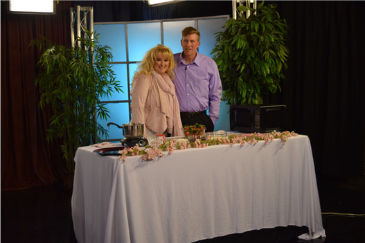 Greg and Stephanie taping of Come and Dine TV.