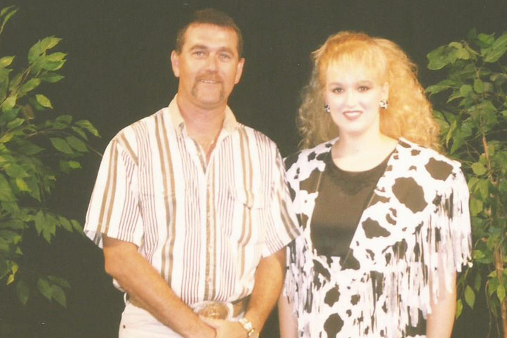 Stephanie and county gospel singer Audie Gilbreath.