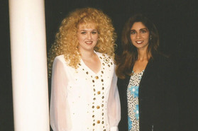 Stephanie and Sharon Bolan Yerby for a taping of Laborers of the Harvest.