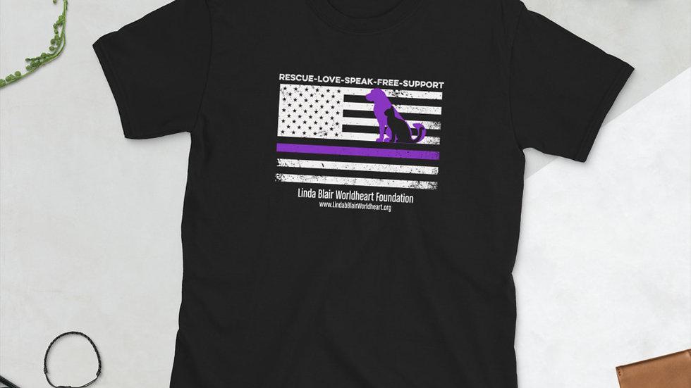 LBWF Purple Line Short-Sleeve Unisex T-Shirt