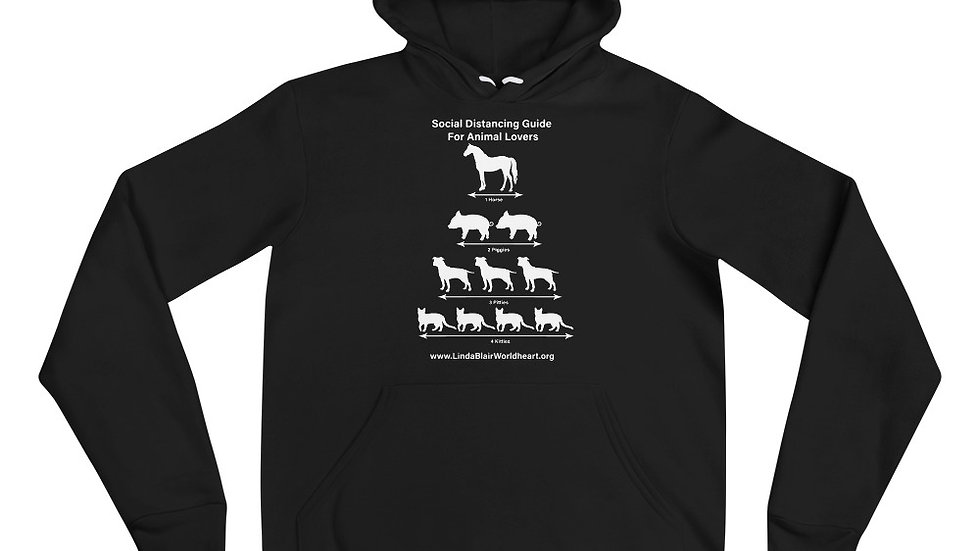 Social Distancing Guide For Animal Lovers Unisex hoodie