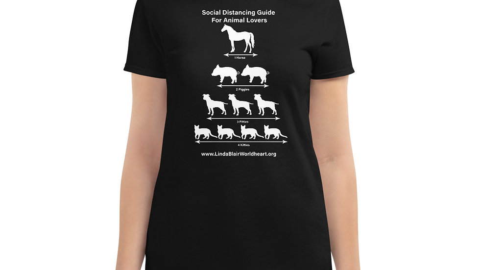 Social Distancing Guide For Animal Lovers Women's short sleeve t-shirt