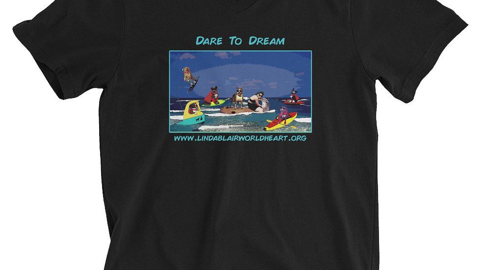 LBWF Dare To Dream Unisex Short Sleeve V-Neck T-Shirt