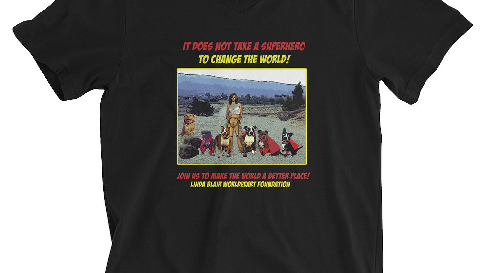 LBWF Superhero Unisex Short Sleeve V-Neck T-Shirt