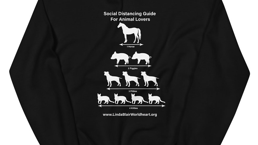 LBWF Social Distancing Guide For Animal Lovers Unisex Sweatshirt