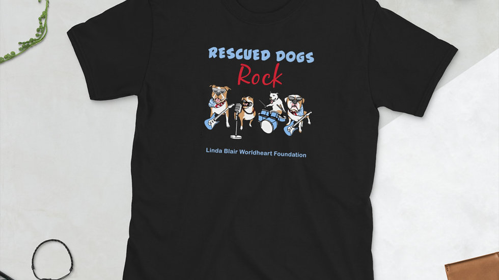 LBWF Rescued Dogs Rock Short-Sleeve Unisex T-Shirt