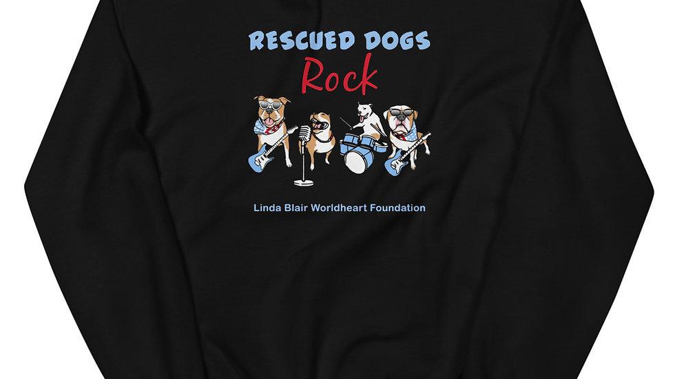 LBWF Rescued Dogs Rock Unisex Sweatshirt