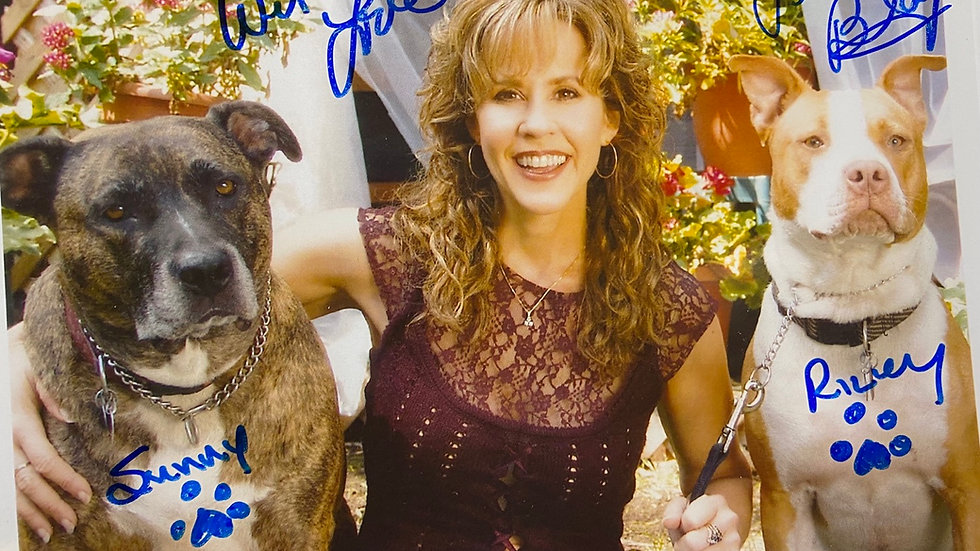 Linda Sunny and Riley Autograph