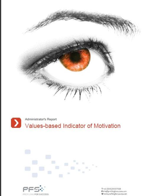 VALUES-BASED INDICATOR OF MOTIVATION