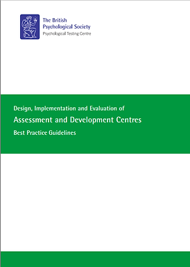 BPS Design, Implementation & Evaluation of Assessment_and Development Centres 2012 Cover.p