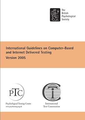 ITC PTC International Guidelines on Computer-based & Internet Testing Cover.png