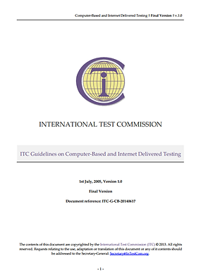 ITC Guidelines on Computer-based & Internet Testing 2005 Cover.png