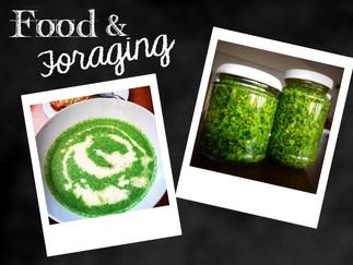 watercress soup & wild garlic pesto