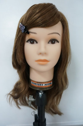 Real human hair training mannequin head