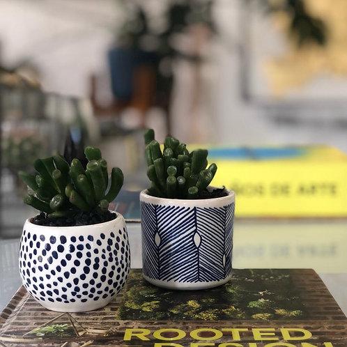 Mini-materas de ceramica pintadas a mano