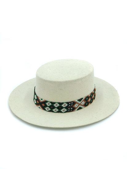 Sombrero blanc chiné
