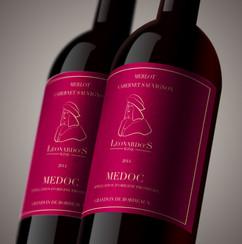 עיצוב תווית בקבות יין