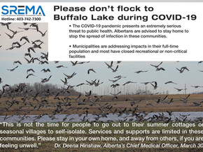Please don't flock to Buffalo Lake during COVID-19