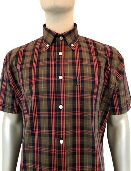 Trojan Tartan Check B/D Shirt TC/1004 Olive