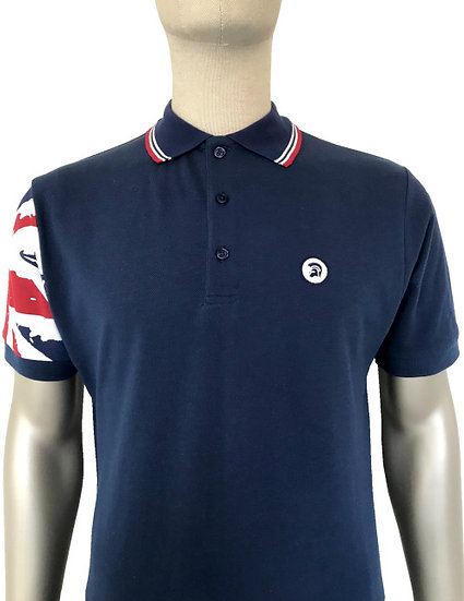 Trojan Flag Sleeve Pique Polo TR/8425 Union