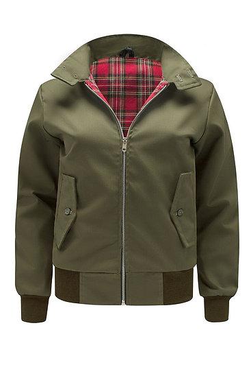 Ladys Classic Harrington Jacket OLIVE