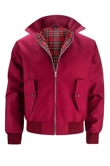 Mens Classic Harrington Jacket BARGUNDY