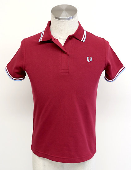 TWIN TIPPED SHIRT Maroon/White/Ice