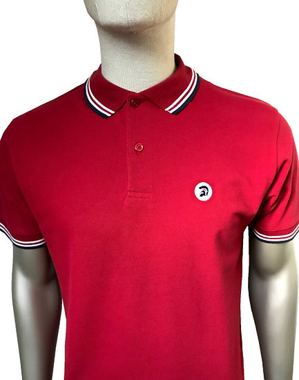 Trojan Tipped Pique Polo TC/1010 Blood
