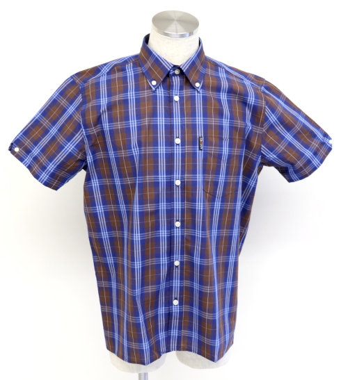 Trojan Tartan Check B/D Shirt TC/1004 Chocolate