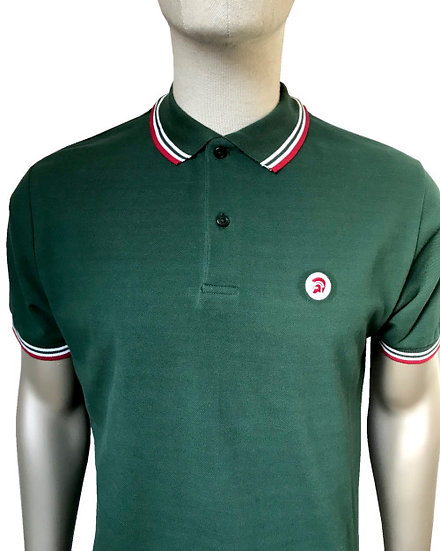 Trojan Tipped Pique Polo TC/1010 Forest