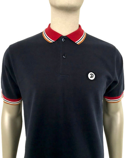 Trojan Contrast Trim Polo TC/1008 Navy