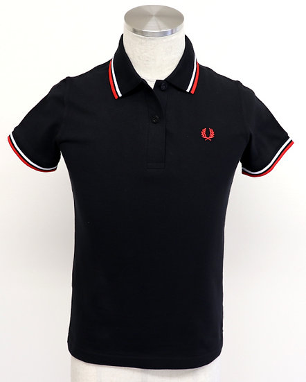 TWIN TIPPED SHIRT Black/White/Bright Red